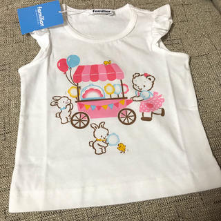 familiar - ファミリア タンクトップ Tシャツ 新品