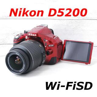 ニコン(Nikon)の❤️スマホ転送❤️希少レッドカラー❤️Nikon D5200(デジタル一眼)
