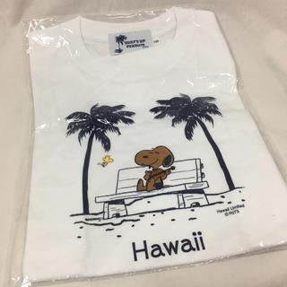 ピーナッツ(PEANUTS)の130 希少 新品 ハワイ限定 日焼けスヌーピー Tシャツ マキさんデザイン(Tシャツ/カットソー)