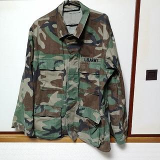 】U.S.ARMY ミリタリー シャツジャケット Mサイズ(ミリタリージャケット)