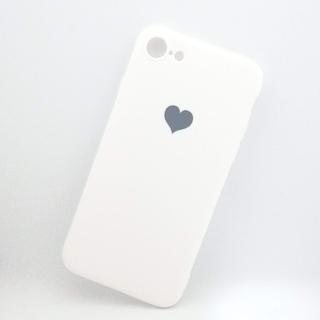 アイフォーン(iPhone)のiPhone7/8/SE2用シリコンケース ホワイト(iPhoneケース)