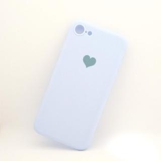 アイフォーン(iPhone)のiPhone7/8/SE2用シリコンケース ブルー(iPhoneケース)