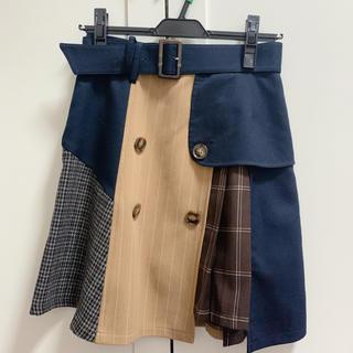 レディアゼル(REDYAZEL)のレディアゼル  チェックスカート(ひざ丈スカート)