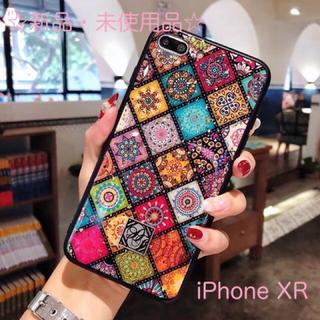 ☆新品☆タイルデザイン ペイズリーiPhoneケース【iPhone XR】(iPhoneケース)