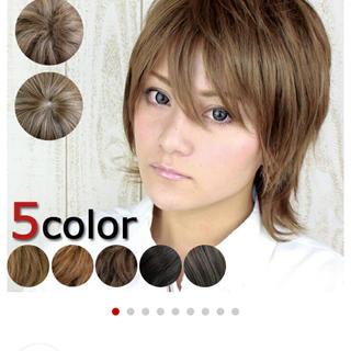 盛り髪ウルフショートウィッグ WIG 耐熱素材 フルウィッグ(ショートストレート)