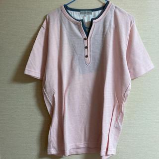 シマムラ(しまむら)のメンズ 淡いピンクトップス(Tシャツ/カットソー(半袖/袖なし))