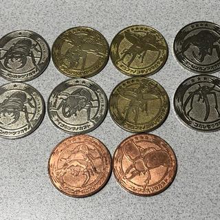セガ(SEGA)の【ムシキング】メダル10枚セット・甲虫王者 森の民の伝説 クワガタ カブト(その他)
