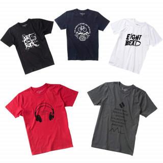 メンズ 半袖 Tシャツ 5枚組 福袋 プリント 透けない 綿100(Tシャツ/カットソー(半袖/袖なし))