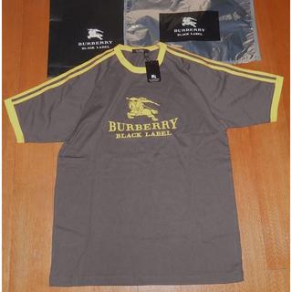 バーバリー(BURBERRY)の新品タグバーバリーブラックレーベルアニバーサリーモデルフロック加工半袖TシャツL(Tシャツ/カットソー(半袖/袖なし))