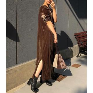 TODAYFUL - TODAYFUL タグありベロアスリットドレスVelour Slit Dress