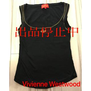 ヴィヴィアンウエストウッド(Vivienne Westwood)のVivienne Westwood タンクトップ 黒 ヴィヴィアンウエストウッド(タンクトップ)