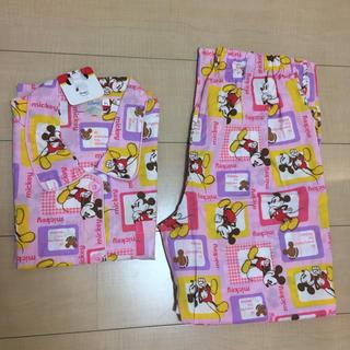 ディズニー(Disney)のディズニー ミッキー ピンク 半袖  パジャマ  上下セット  M〜L(パジャマ)