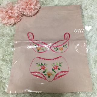 Cocoonist - 新品 大判巾着 トラベル巾着 ポーチ 下着ポーチ 着替え袋 バッグ 刺繍ポーチ