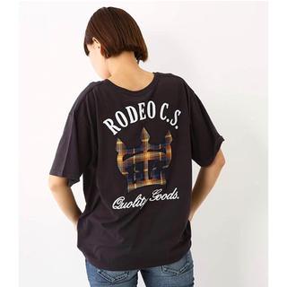 RODEO CROWNS WIDE BOWL - ロデオクラウンズ クラウンチェックパッチTシャツ