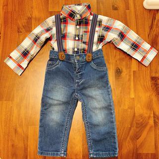 Carter's オーバーオール デニム つなぎ ロンパースシャツ