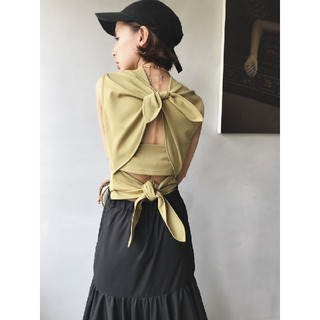 Ameri VINTAGE - アメリヴィンテージ MEDI BACK DOUBLE RIBBON TOPS