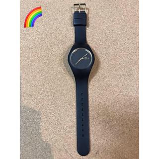 アイスウォッチ(ice watch)のステッカー付き🌈 アイスウォッチ ice watch ブラック(腕時計)