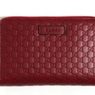 グッチ(Gucci)のGUCCI 長財布 レッド レディース(財布)