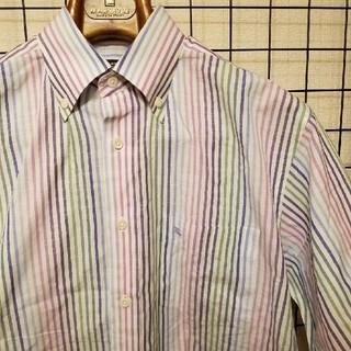 バーバリー(BURBERRY)の日本製 BURBERRY LONDON リネン混 マルチストライプ 半袖シャツ(シャツ)