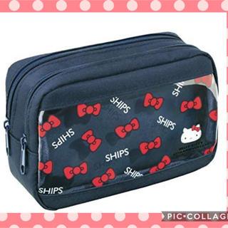 SHIPS - Hello Kitty × MORE × SHIPS クリア窓つきWジップポーチ
