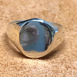 オーバル 印台 シルバー925リング シグネット メンズ 銀 ハンコ ギフト指輪(リング(指輪))