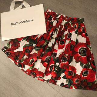 DOLCE&GABBANA - ドルチェ&ガッパーナ♡ポピー柄スカート