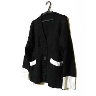 【新品・未使用】レディース カーディガン セーター 長袖 送料無料 ブラック M(ニットコート)