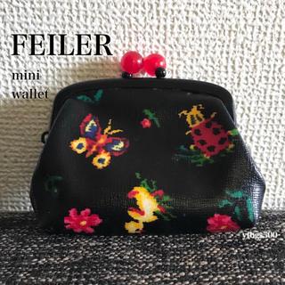 FEILER - FEILER/フェイラー◆ハイジ がま口財布 コインケース 小物入れ◆レディース