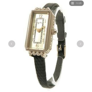 アガット(agete)のagete スクエアフェイス革ベルトウォッチ(腕時計)