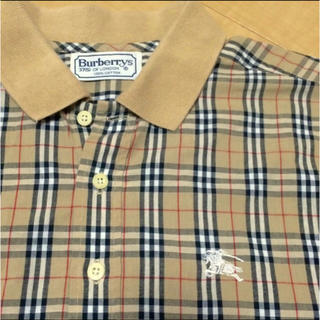 バーバリー(BURBERRY)のレア90s バーバリー チェックシャツ ノバチェック 半袖シャツ ポロシャツ(シャツ)