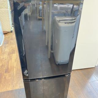 R34413 三菱 2ドア冷蔵庫 MR-P15EY-B ブラック 右開き(冷蔵庫)