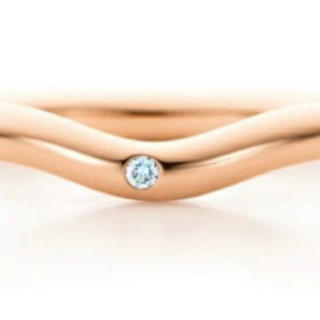 ティファニー(Tiffany & Co.)のティファニーカーブドバンドリング エルサペレッティ 1Pダイヤリング 7号(リング(指輪))