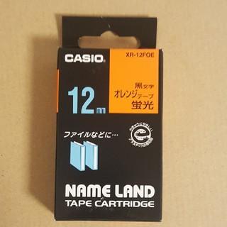 CASIO ネームランド テープ 蛍光オレンジ 12mm