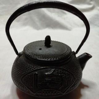 南部鉄器.鉄瓶. 南部鉄瓶南部アラレ/美味しいお茶🍵(金属工芸)