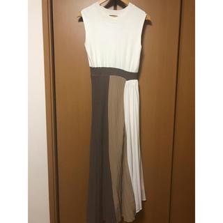 rienda - rienda  Color Block Pleat Knit OP