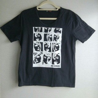 エムケーミッシェルクランオム(MK MICHEL KLEIN homme)のMK HOMME エムケー ミッシェルクランオム 半袖 Tシャツ ブラック 46(Tシャツ/カットソー(半袖/袖なし))