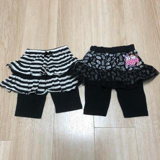 シマムラ(しまむら)のドキンちゃん ボーダー パンツスカート  レギンス  80(パンツ/スパッツ)