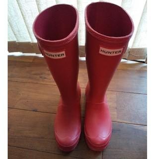 ハンター(HUNTER)のハンター 長靴 赤 20㎝(長靴/レインシューズ)