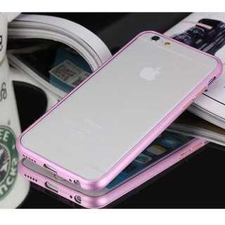 iPhone6S ローズゴールド アルミバンパーフレーム バンカー メッキ加工(モバイルケース/カバー)