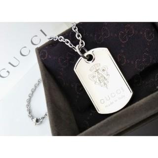 Gucci - クレスト/紋章 ドッグタグ/プレート ネックレス/ペンダント オールドグッチ