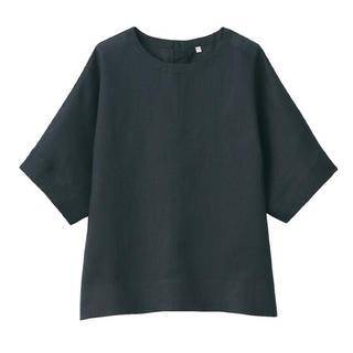 MUJI (無印良品) - 新品 無印良品  オーガニックリネン洗いざらし半袖ブラウス