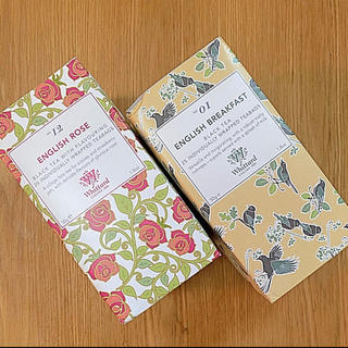 2種‼️Whittard  ウィッタード イングリッシュローズ&ブラックティー(茶)