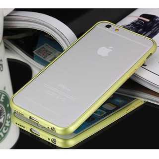iPhone6S グリーンゴールド アルミバンパーフレーム バンカー メッキ加工(モバイルケース/カバー)