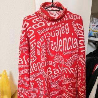 バレンシアガ(Balenciaga)の新品19AW BALENCIAGA ロゴウェーブ タートルネック ニット XS(ニット/セーター)