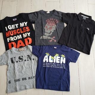 ユニクロ(UNIQLO)のTシャツ5点セット100cm(Tシャツ/カットソー)