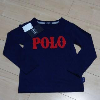 シマムラ(しまむら)の新品タグ付き未使用◆POLO ロゴ ロンT ネイビー(Tシャツ/カットソー)