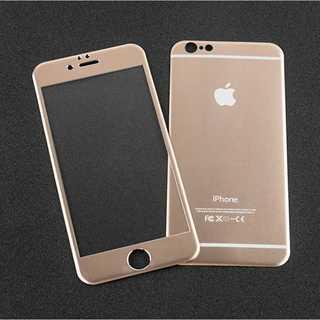 iPhoneSE第2世代 ゴールド 全面保護 チタンフレーム バンパー(モバイルケース/カバー)