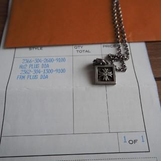 クロムハーツ(Chrome Hearts)のクロムハーツ ダイヤ入りネックレス チャームフレーム CHプラス  (ネックレス)