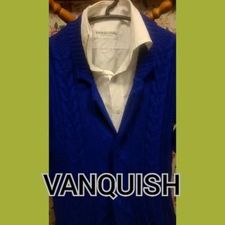ヴァンキッシュ(VANQUISH)のVANQUISH フィッシャーマンジャケットカーディガン[VKT725] ブルー(カーディガン)