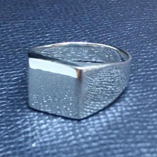 印台 シルバー925リング シグネット スクエア ギフト 銀指輪シンプル ハンコ(リング(指輪))